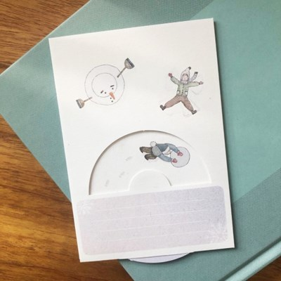 겨울 크리스마스 카드 - 스노우 엔젤