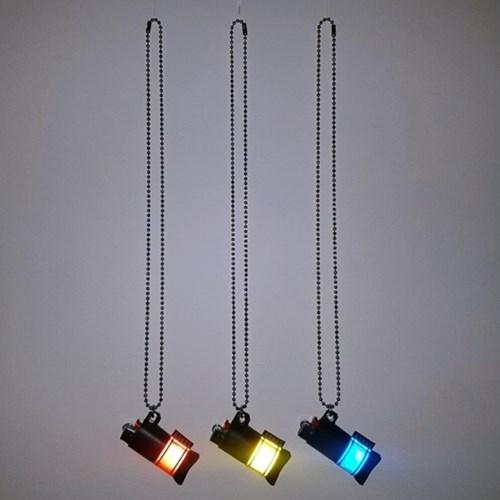 fluorescence lighter necklace (2color)