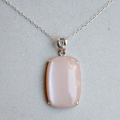 38Ct peachmoon with diamond