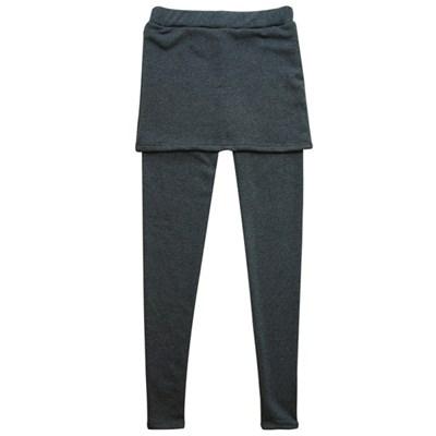 밍크퍼 H라인 미니스커트 레깅스 따뜻한 융털
