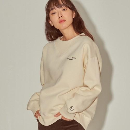 유라고 로고 맨투맨(cream_napping 9/23 예약발송)