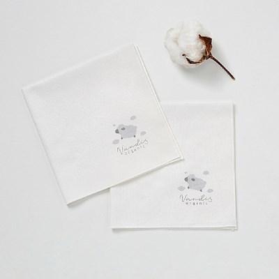 오가닉 바바 엠보 손수건 10매