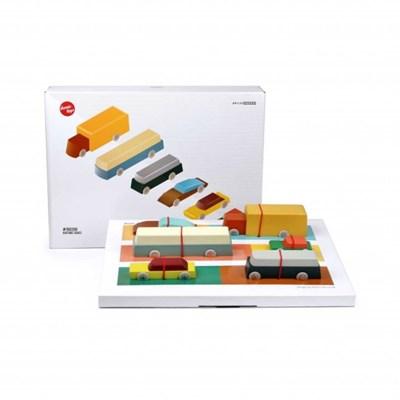 아이코닉토이즈 Floris Hovers Duotone Set 원목자동차 장난감