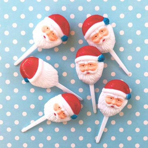 Blue Ball Santa Pick