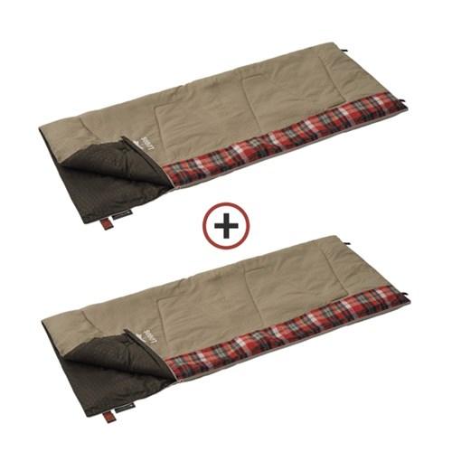 1+1 체크 포인트 침낭 2 (베이지) 72602010s 캠핑 담요 사계절