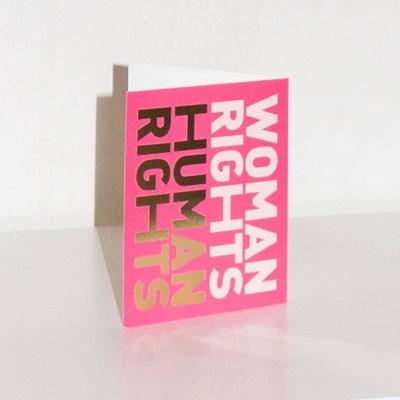Woman Rights Human Rights card