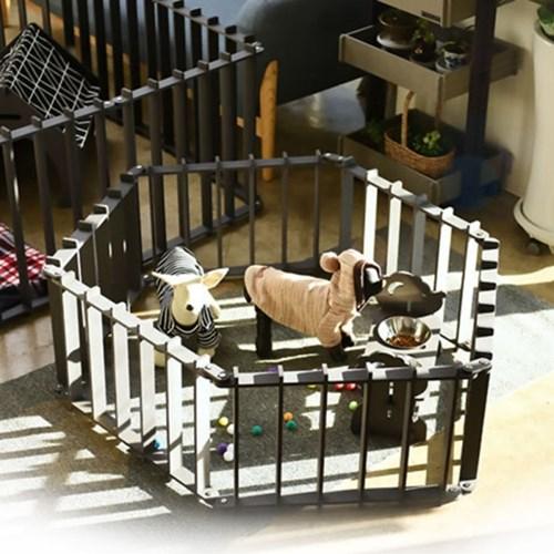 런메이크 강아지 울타리-애견용품 고양이 안전문 펜스