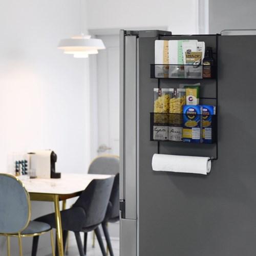 와이드 매직 주방 냉장고 틈새 공간 활용 철제 선반_(1199542)