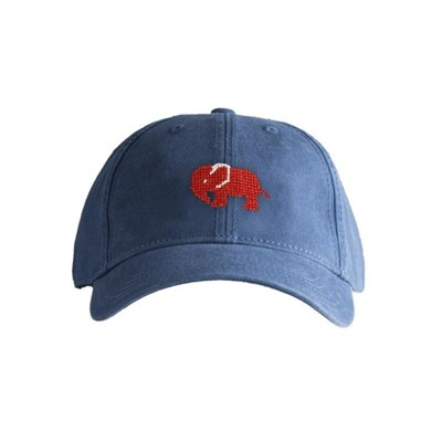 [Hardinglane] Adult`s Hats Red Elephant on Navy Blue