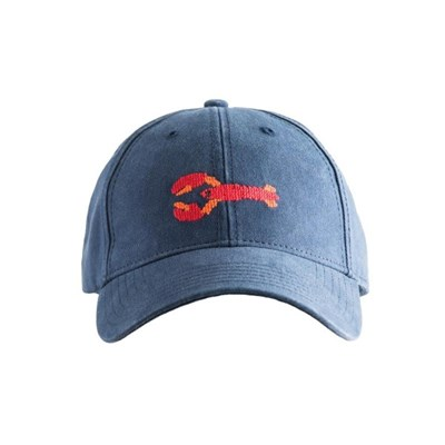 [Hardinglane] Adult`s Hats Lobster on Navy Blue