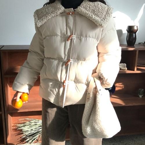 양털 카라 떡볶이 패딩점퍼