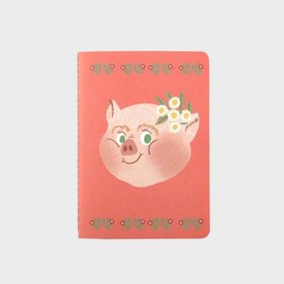 Piggy with Flower NOTEBOOK