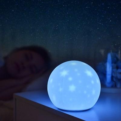 실리콘 달 충전식 LED 무드등_(862918)