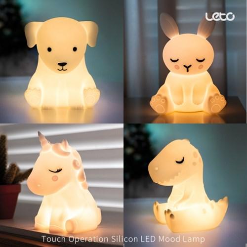 레토 실리콘 LED무드등 LML-R02 충전식 인테리어 조명 4종