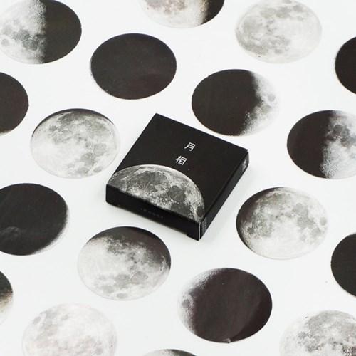 보름달 그믐달 스티커 팩