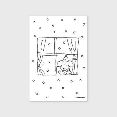 [어프어프] 엽서 winter dog