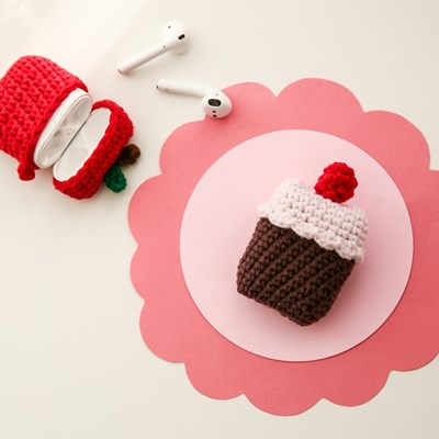 딸기 케이크  뜨개케이스