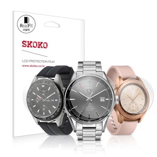 스코코 풀커버 리얼핏 시계 액정보호필름 3매 21-45mm_(713945)
