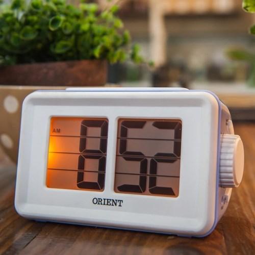 오리엔트 OT1561V 플립형스누즈알람 디지털시계 바이올렛 OT1561