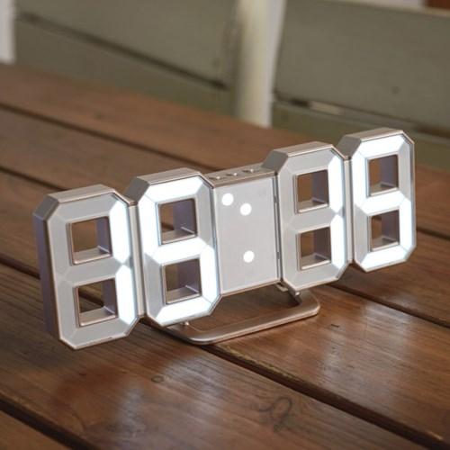 오리엔트 OT1586G 3D화이트LED 벽탁상겸용시계 골드 OT1586