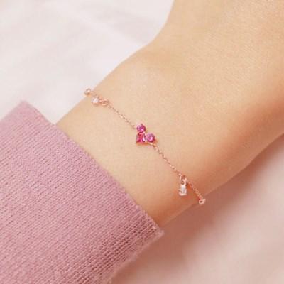 사랑스러운 분홍 큐빅하트 팔찌 OTB116V10QPP
