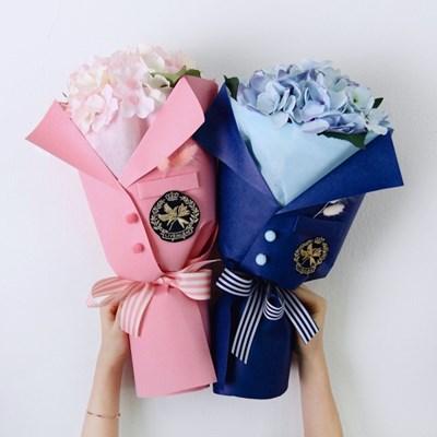 졸업식 수국꽃다발 조화꽃다발