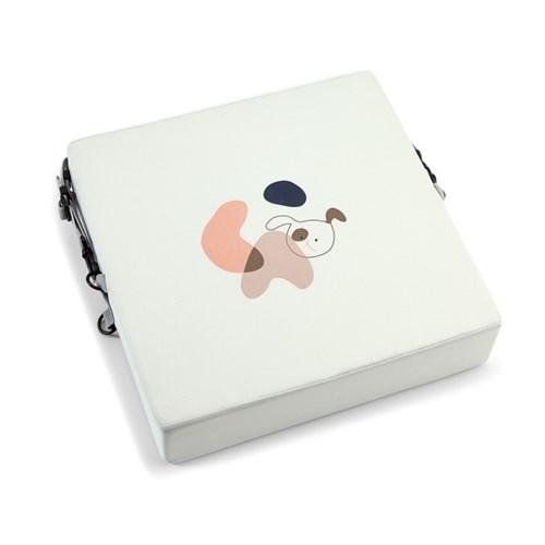 하쥬르 키높이 유아 어린이 식탁 의자 방석 (2중안전장치) - 강아지