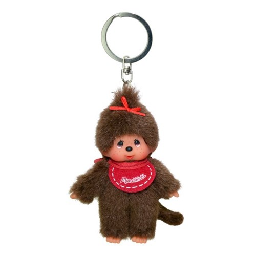 Classic Monchhichi Red Girl Keychain (European Edition)
