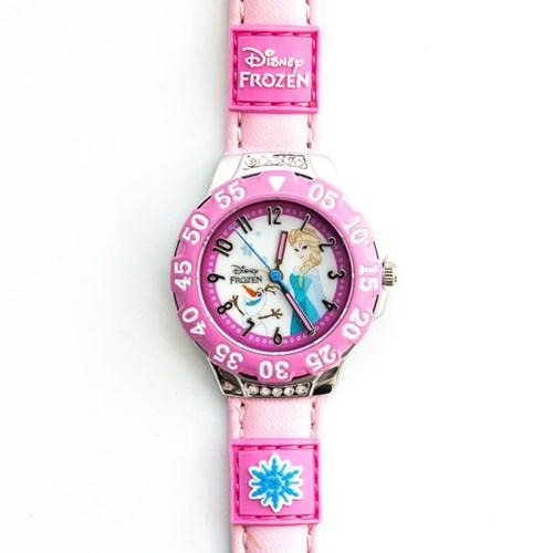 디즈니 JTD-24 울라프 엘사 시계 연핑크_(885253)