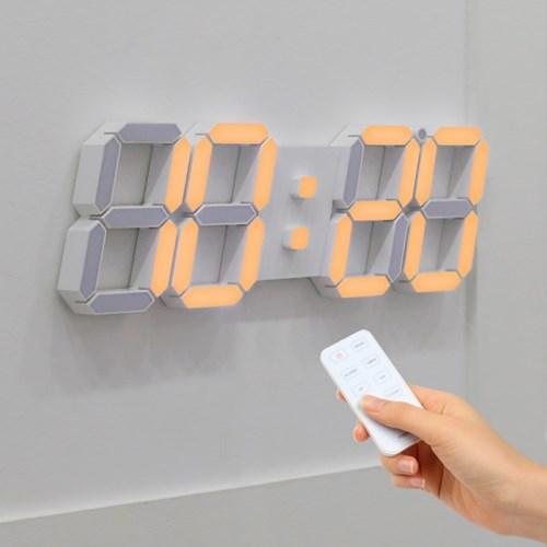 [무아스] 빅플러스 3D LED 벽시계 듀얼