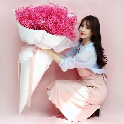 [리브인리프] 자이언트꽃다발 핑크안개꽃