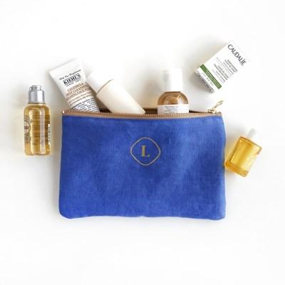 Premium Linen Zip pouch - Small