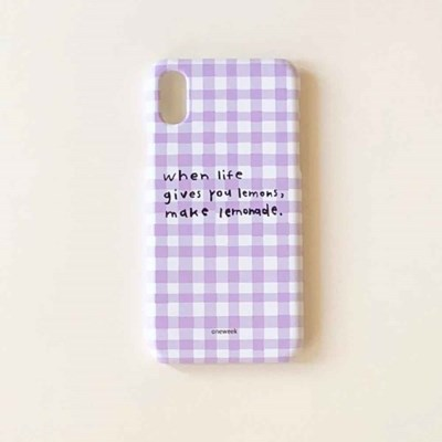 Lemonade case - lilac check