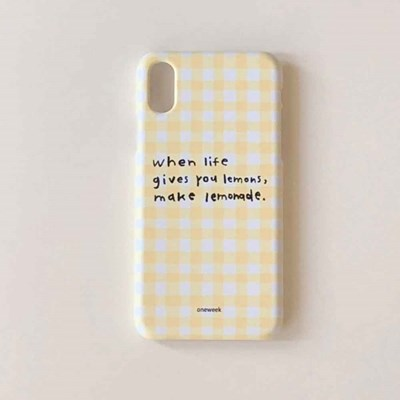 Lemonade case - yellow check