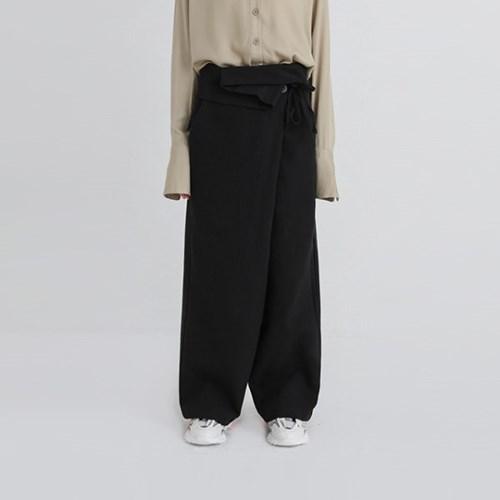folder lap cotton wide pants (2colors)