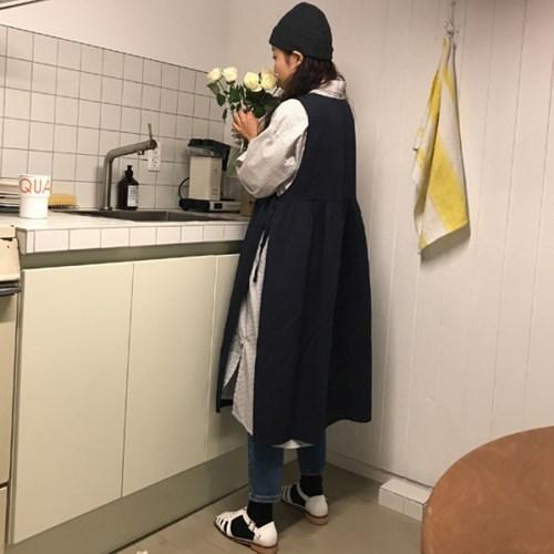 버터 리본 원피스