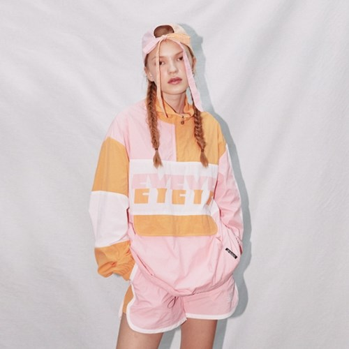 COLOR COMBINATION WINDBREAKER JUMPER_PINK (EEON1JPR01W)