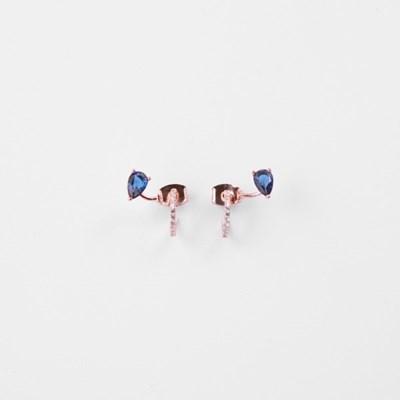 [쥬디앤폴] 샤이어 사파이어 커브라인 실버 귀걸이 E50432