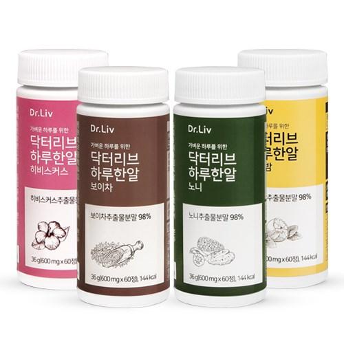 닥터리브 하루한알 (히비스커스/보이차/노니/레몬밤) 60정