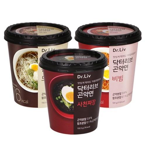 닥터리브 곤약면 비빔&모밀&사천짜장