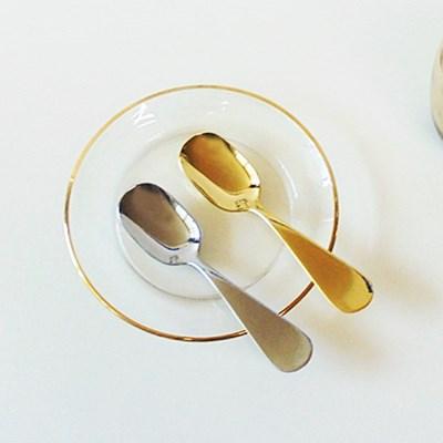 라운드 디저트 스푼 아이스크림 스푼