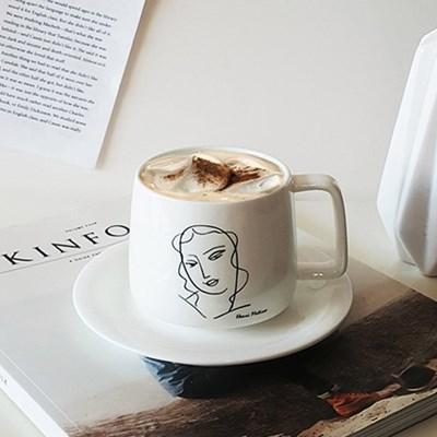 앙리마티스 커피잔세트(300ml) 찻잔