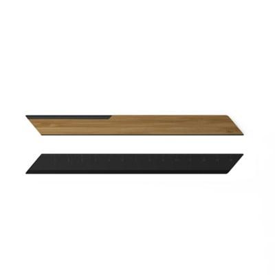 대나무 레터오프너/자 블랙 Bamboo Letter Opener/Ruler Black