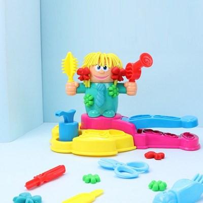 헤어드레서 클레이 미용실 점토 만들기 놀이 장난감 세트