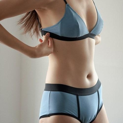 비브비브 bralette - Soft Blue (만세브라렛)