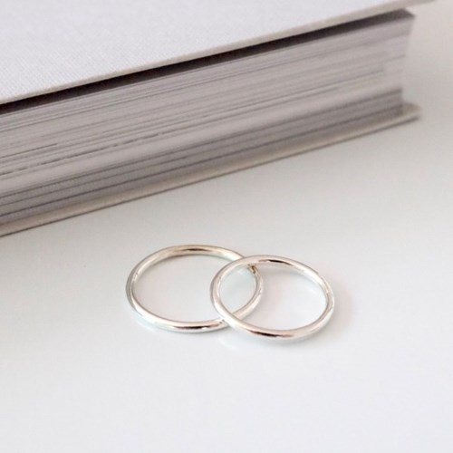 (92.5 silver) skinny band ring 02