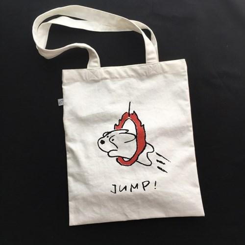 Jump Corgiman Cotton Bag