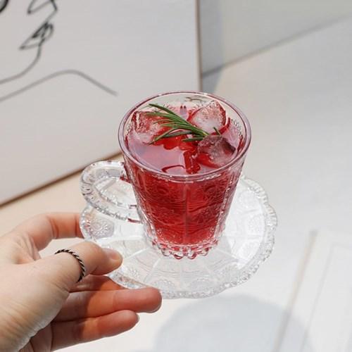 Fleur 샤인 글라스 머그+받침세트 150ml (8A) 1P
