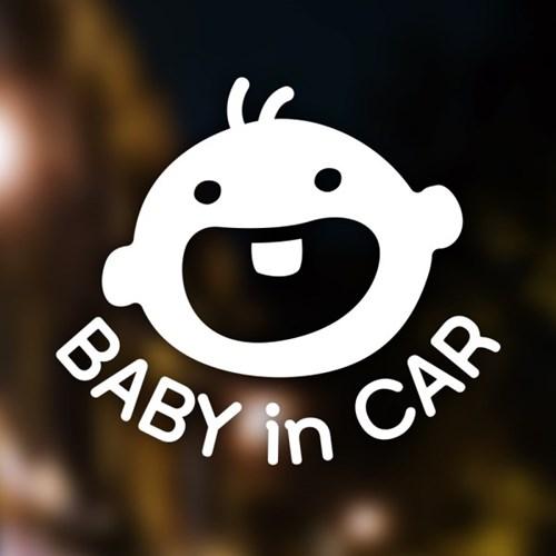 아기가타고있어요 자동차 스티커 코코베베