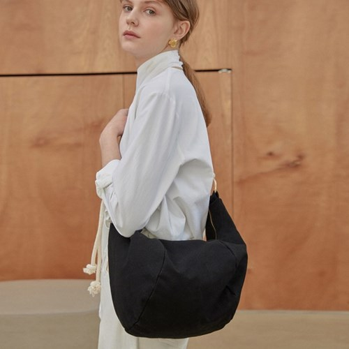 Canvas String Sling Bag_BK